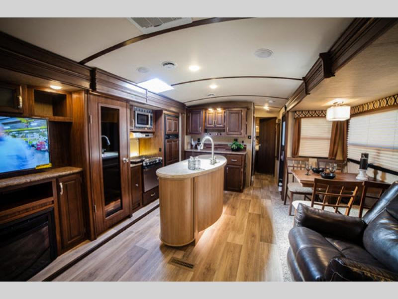 Rv With Living Room  Feet