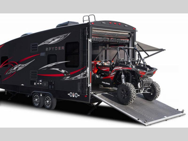 Spyder Toy Hauler Travel Trailer Rv Sales 4 Floorplans
