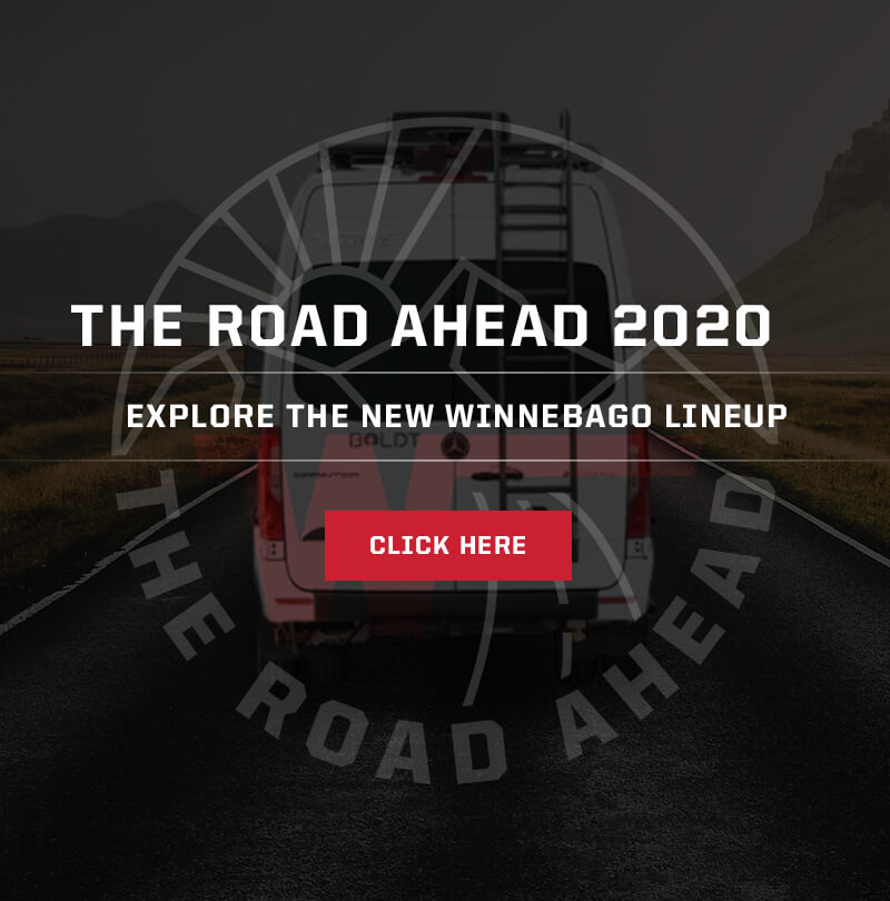 Winnebago 2021 Virtual Lineup Reveal - The Road Ahead logo