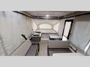 Inside - 2021 Clipper Camping Trailers 107LS Folding Pop-Up Camper