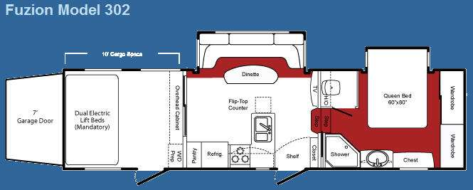 Used 2009 Keystone Rv Fuzion 302 Toy Hauler Fifth Wheel