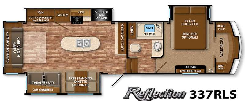 Used 2015 Grand Design Reflection 337rls Fifth Wheel For