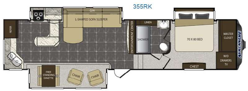Rear Kitchen Fifth Wheel Floor Plans Wow Blog