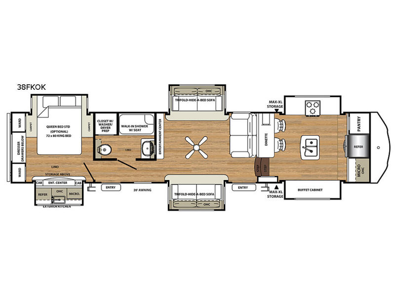 New 2018 Forest River Rv Sierra 38fkok Fifth Wheel At