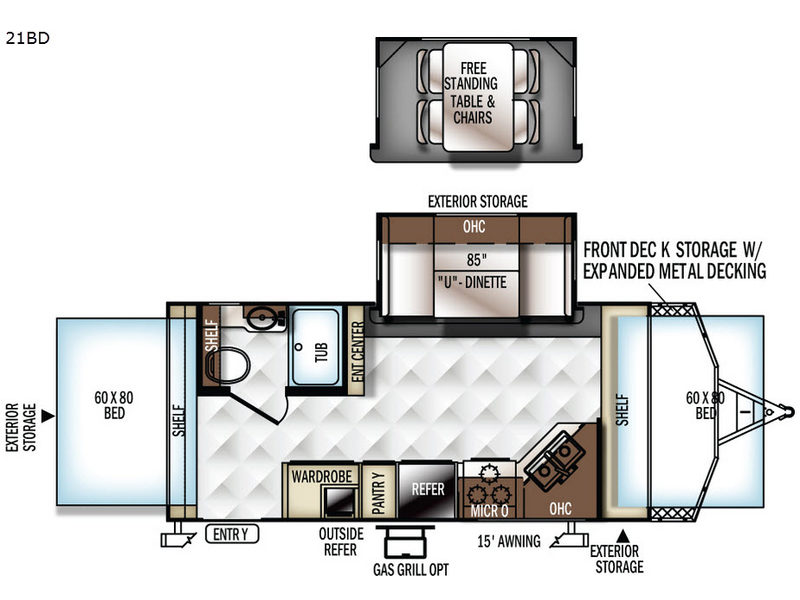 New 2017 Forest River Rv Rockwood Roo 21bd Expandable At