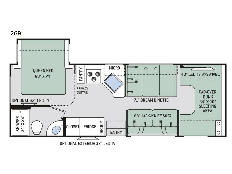 New 2019 Thor Motor Coach Chateau 26B Motor Home Class C at