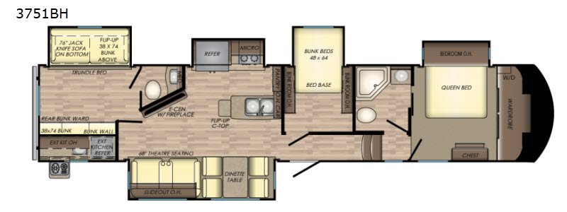 New 2018 crossroads rv volante 3751bh fifth wheel at paw - 5th wheel campers with 2 bedrooms ...