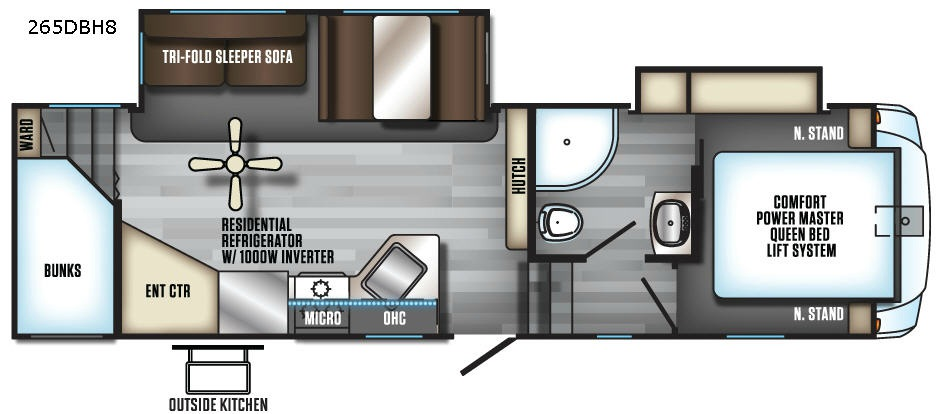New 2019 Forest River RV Cherokee Arctic Wolf 265DBH8 Fifth Wheel at