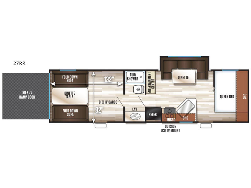 New 2019 Forest River RV Cherokee Grey Wolf 27RR Toy Hauler Travel
