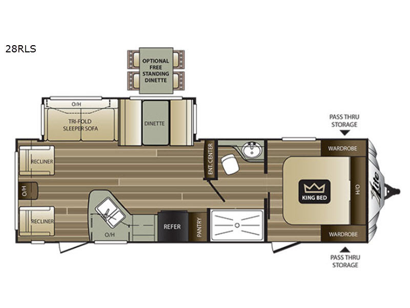 Rear Kitchen Rv Floor Plans