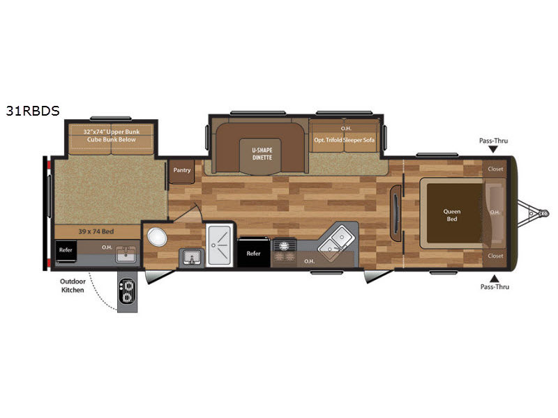 Used 2017 Keystone Rv Hideout 31 Rbds Travel Trailer At