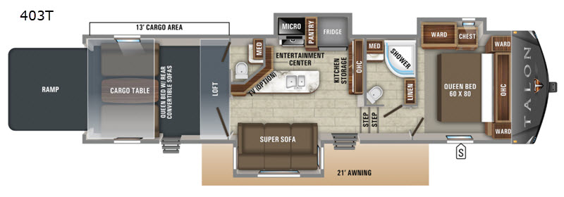 New 2020 Jayco Talon 403T Toy Hauler Fifth Wheel at ... Jayco Fifth S Wiring Diagram on