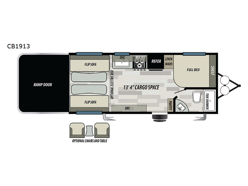 New 2019 Forest River Rv Stealth Cb1913 Toy Hauler Travel