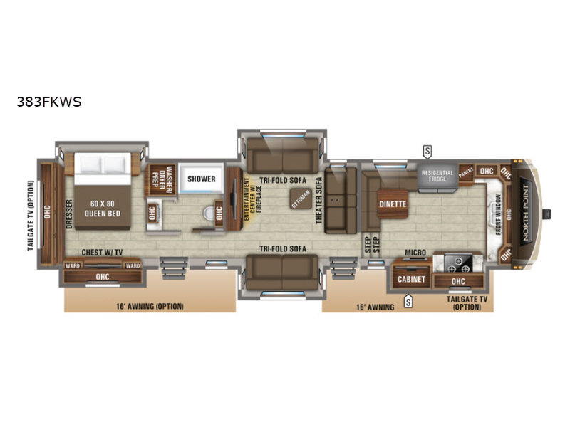 New 2020 Jayco North Point 383fkws Fifth Wheel At Rv City