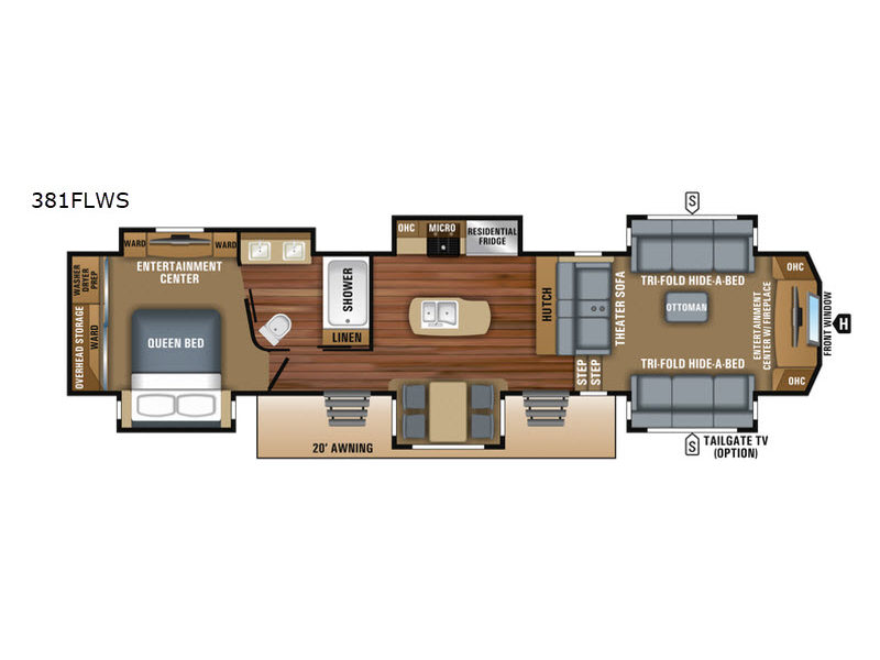 North Point Rv >> New 2018 Jayco North Point 381flws Fifth Wheel