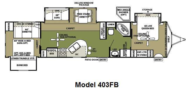 Used 2009 Forest River Rv Wildwood Lodge 403fb Destination