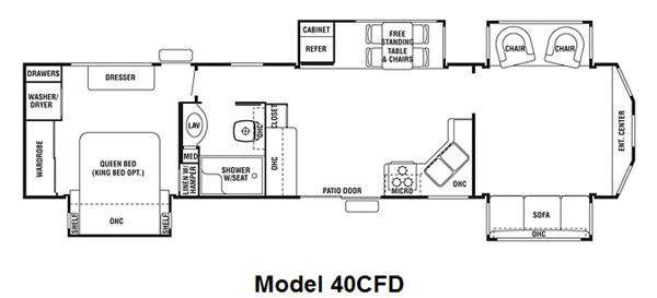 New 2011 Forest River Rv Cedar Creek Cottage 40cfd