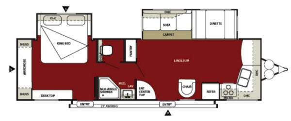 Used 2013 Forest River Rv Wildwood 30fkbs Travel Trailer