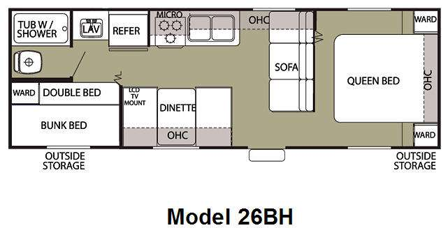 Used 2013 Forest River Rv Cherokee Grey Wolf 26bh Travel Trailer At Hitch Rv Milford De 18291a
