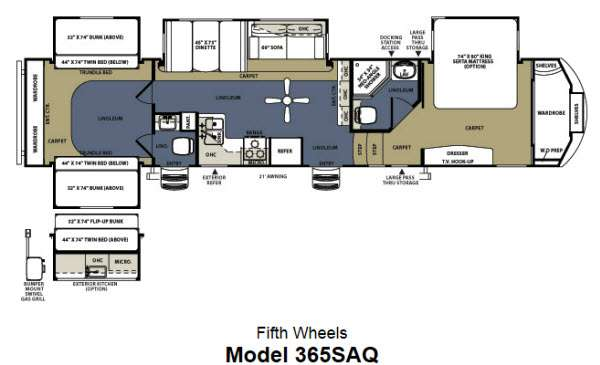 Used 2013    Forest       River    RV Sierra    365SAQ    Fifth Wheel at