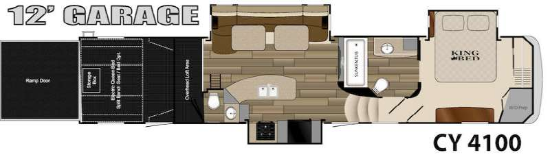 used 2014 heartland cyclone 4100 king toy hauler fifth. Black Bedroom Furniture Sets. Home Design Ideas