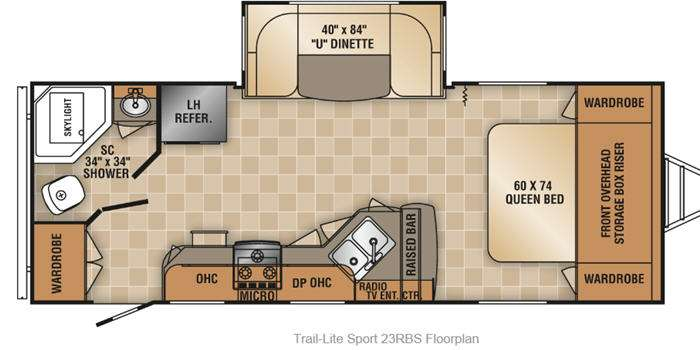 Excellent New 2014 RVision TrailLite Sport 23RBS Travel Trailer At