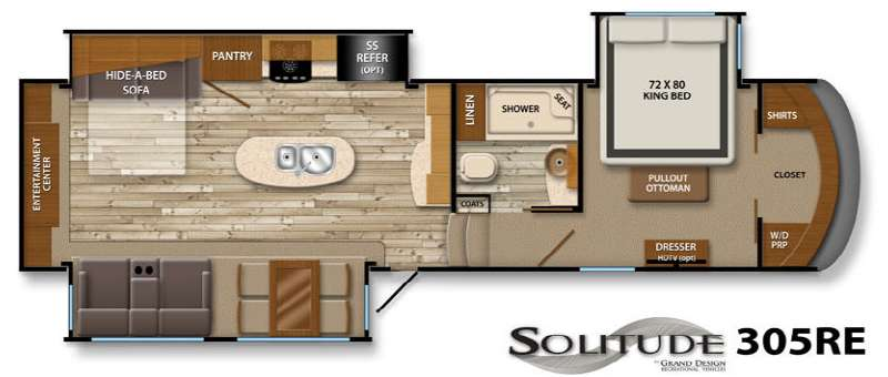 Used 2014 Grand Design Solitude 305re Fifth Wheel At
