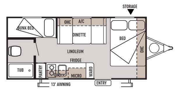 Used 2014 Forest River Rv Wildwood X Lite Fs 195bh Travel