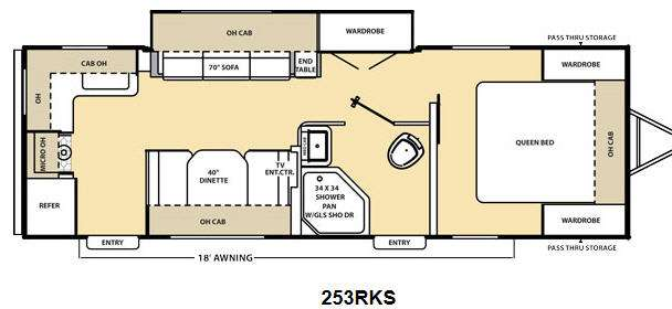 New 2014 Forest River Rv Coachmen Catalina 253 Rks Travel