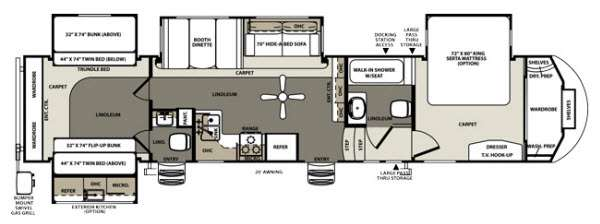 Used 2014 Forest River Rv Sierra 365saqb Fifth Wheel At