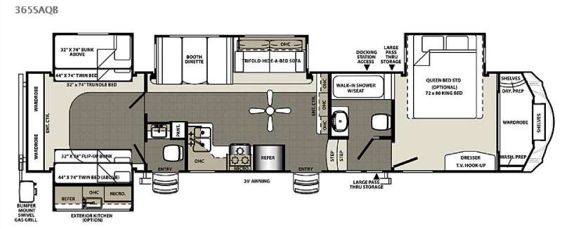 New 2015 Forest River Rv Sandpiper 365saqb Fifth Wheel At