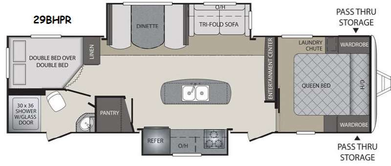 New 2015 keystone rv premier ultra lite 29bhpr travel for Rv with 2 master bedrooms