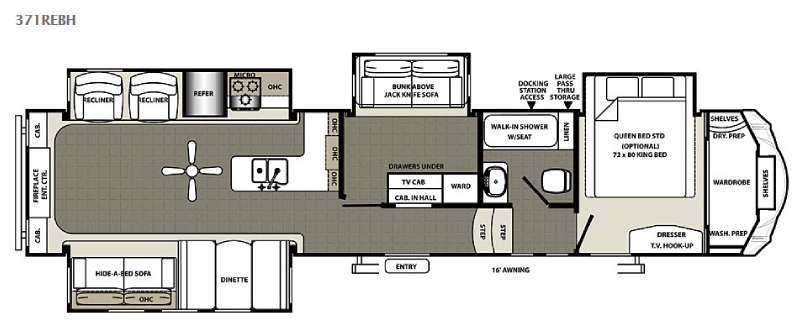 New Forest River RV Sandpiper REBH Fifth Wheel At Fun Town - Forest river 5th wheel floor plans