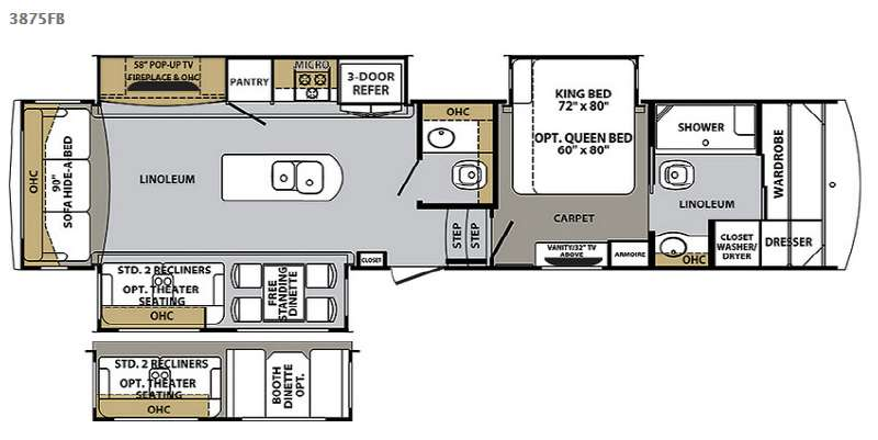 new 2015 forest river rv cardinal 3875fb fifth wheel at cardinal fifth wheel rv sales 9 floorplans