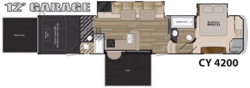 Used 2016 Heartland Cyclone 4200 Toy Hauler Fifth Wheel At Fun