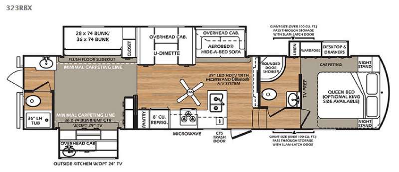New Forest River RV Wildcat RBX Fifth Wheel At Collier RV - Forest river 5th wheel floor plans