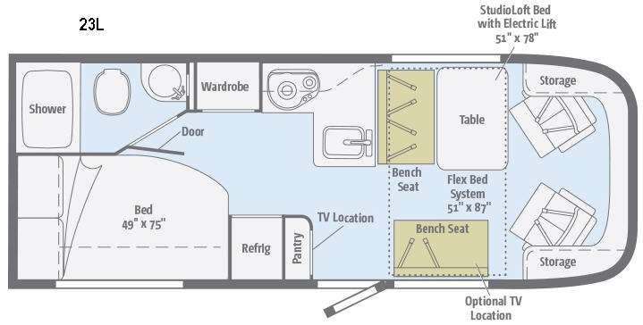 Chinook Rv Wiring Diagram : New winnebago trend l motor home class c at