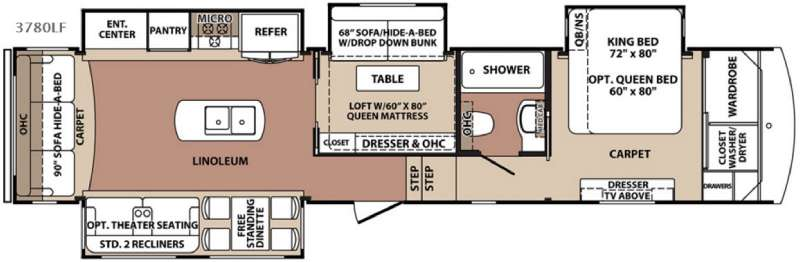 New 2016 Forest River Rv Blue Ridge 3780lf Fifth Wheel At