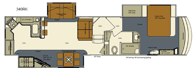 Used 2016 EverGreen RV Bay Hill 340RK Fifth Wheel at RV Country ...