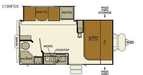 Used 2016 EverGreen RV I-Go Cloud Series C189FDS Travel Trailer at ...