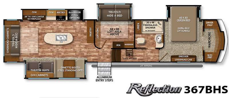 New 2016 Grand Design Reflection 367bhs Fifth Wheel At