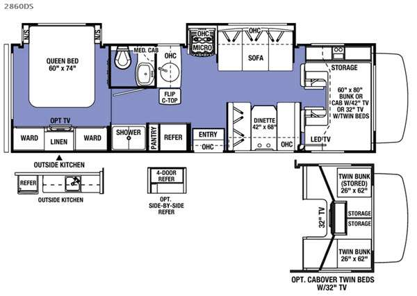 New 2017 forest river rv sunseeker ssc2860dsf motor home class c at floorplan title cheapraybanclubmaster Choice Image