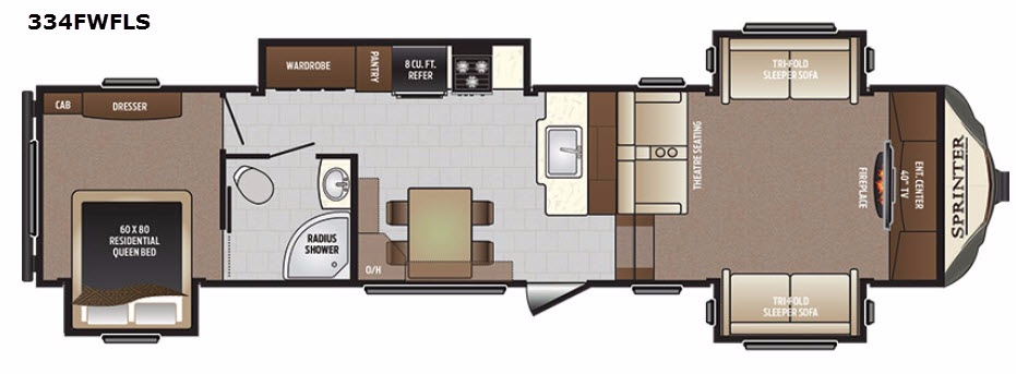 New 2017 Keystone Rv Sprinter 334fwfls Fifth Wheel At Dick