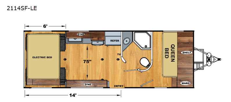 Floorplan - 2017 Eclipse Iconic Limited 2114SF