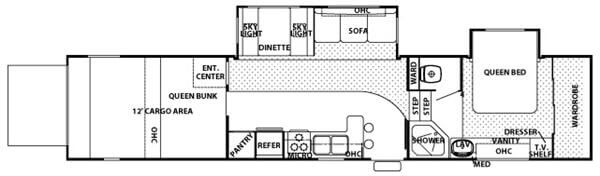Floorplan - 2007 Forest River RV Cherokee Wolf Pack Sport 385WP