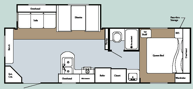 Floorplan - 2008 Gulf Stream RV Kingsport 268 BW