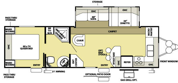 Used 2008 Forest River Rv Wildwood La 292fkss Travel