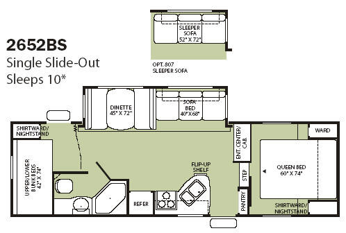 Floorplan - 2008 Fleetwood RV Wilderness 2652BS