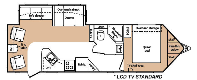 Floorplan - 2008 Keystone RV VR1 299RLS