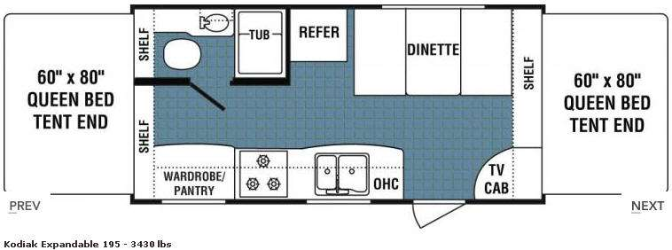 Floorplan - 2008 Dutchmen RV Kodiak 195